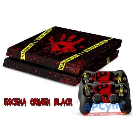 Vinilo Playstation 4 Modelo Escena de Crimen Negro