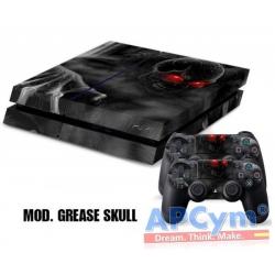 Vinilo Playstation 4 Calavera Gris Skull