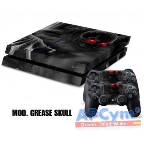 Vinilo Playstation 4 Modelo Grease Skull