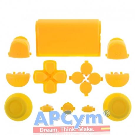Pack Completo Botones Mando Ps4 Amarillo