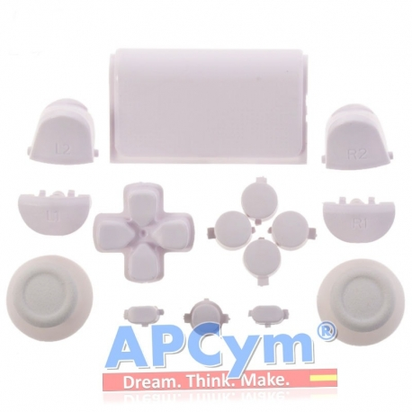 Pack Completo Botones Mando Ps4 Blanco