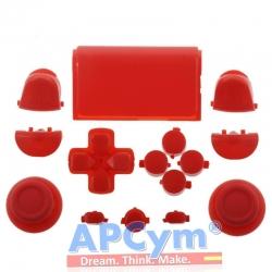 Pack Completo Botones Mando Ps4 Rojo