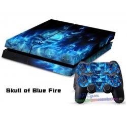 Vinilo Playstation 4 Calavera Azul