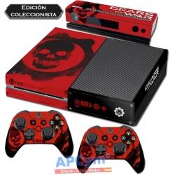 Vinilo Xbox One Modelo Gears Of War Edicion Coleccionista