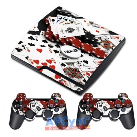 Vinilo Playstation 3 Slim Modelo Poker