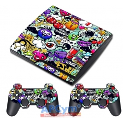 Vinilo Playstation 3 Slim Graffiti