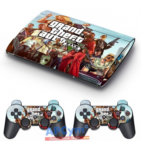 Vinilo Playstation 3 Super Slim GTA V
