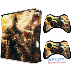 Vinilo Xbox 360 Slim Call Of Duty COD Black Ops