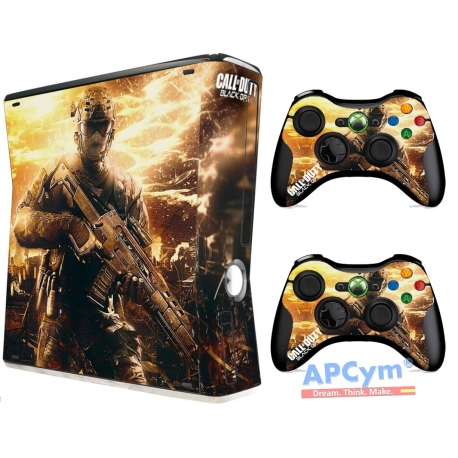 Vinilo Xbox 360 Slim Call Of Duty Black Ops