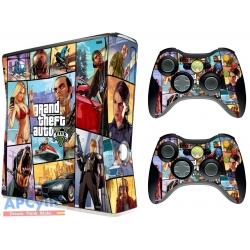 Vinilo Xbox 360 Slim GTA V