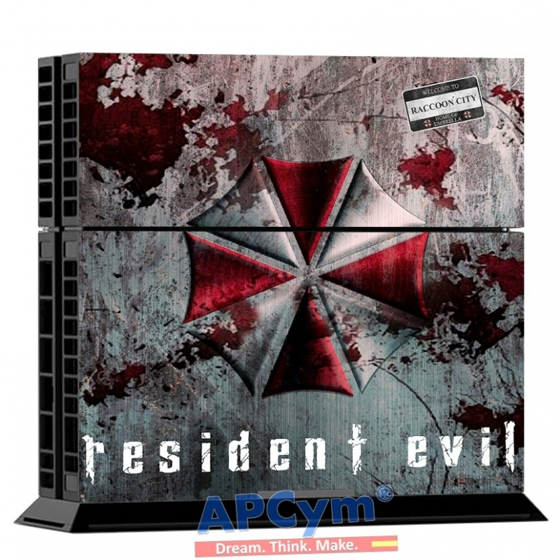 7be9033a9b Vinilo Playstation 4 Umbrella Resident Evil - APCym - Tienda de ...