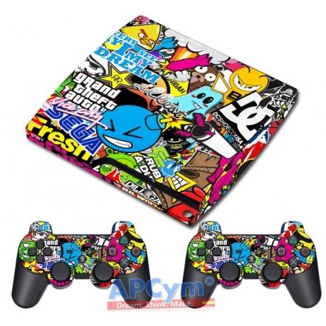 Vinilo Playstation 3 Slim Modelo Pegatinas