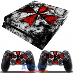 Vinilo Playstation 4 Resident Evil Racoon Shield Umbrella