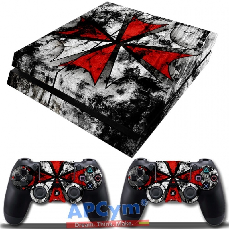 0523646c72 Vinilo Playstation 4 Resident Evil Racoon Shield Umbrella - APCym ...