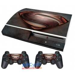 Vinilo Playstation 3 Fat Superman Hombre de Acero Steel Man