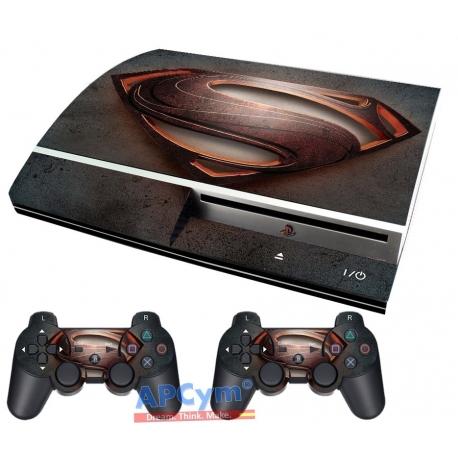 Vinilo Playstation 3 Fat Superman Hombre de Acero Steel Man