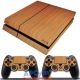 Vinilo Playstation 4 Madera Marron Wood