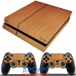Vinilo Playstation 4 Madera Wood