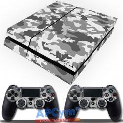 Vinilo Playstation 4 Camuflaje Militar Gris