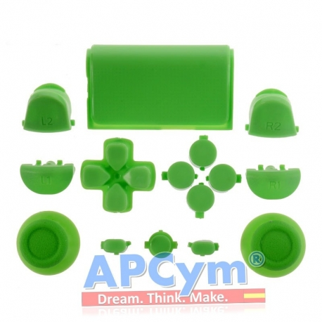 Pack Completo Botones Mando Ps4 Verde