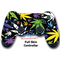 Vinilo Skin para Mando PS4 Completo Marihuana