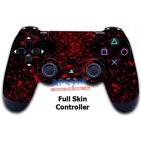 Vinilo Skin para Mando PS4 Completo Escena Crimen Sangre Negro