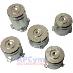 Botones Bala Aluminio Plata
