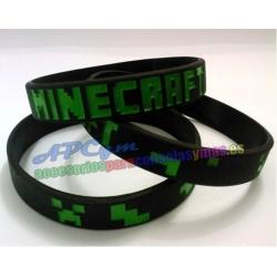 Minecraft Pulsera Alta Calidad Negra