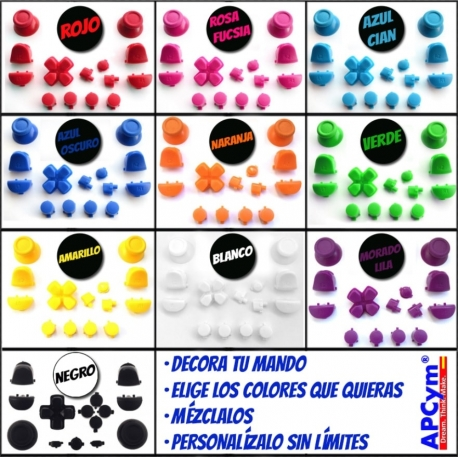 Personaliza Botones de Colores Mando PS4