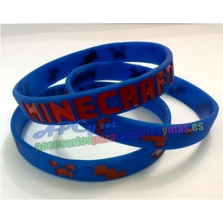 Minecraft Pulsera Alta Calidad Azul