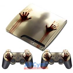 Vinilo PS3 Slim Zombies Manos de Sangre