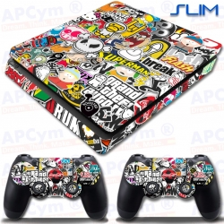 Vinilo PS4 Slim Stickers gta