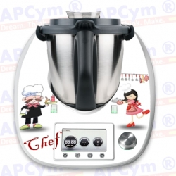 Vinilo Thermomix TM5 Cocineros Chef