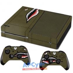 Vinilo Xbox One Avion segunda guerra mundial tiburon