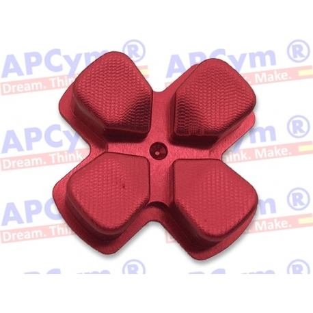 Dpad de Aluminio mando Ps4 Rojo