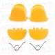 Gatillos PS4 L1 R1 L2 R2  amarillos + 2 Muelles