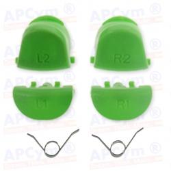 Gatillos PS4 L1 R1 L2 R2  verde + 2 Muelles