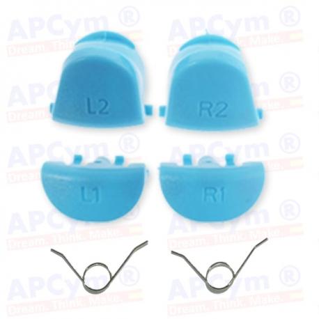 Gatillos PS4 L1 R1 L2 R2  azul cian + 2 Muelles