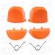 Gatillos PS4 L1 R1 L2 R2  naranjas + 2 Muelles