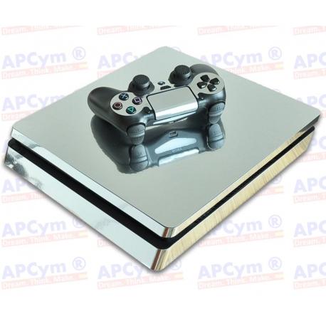 Vinilo PS4 Slim plata Efecto Espejo