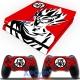 Vinilo Playstation 4 Goku Rojo