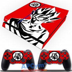 Vinilo Playstation 4 Goku Rojo