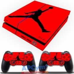 Vinilo Playstation 4 Jordan rojo
