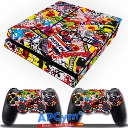 Vinilo Playstation 4 stickers repsol