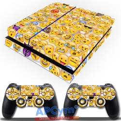 Vinilo Playstation 4 emoticonos emojis whatsapp