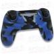 Funda Silicona PS4 Azul camuflaje