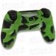 Funda Silicona PS4 Camuflaje verde