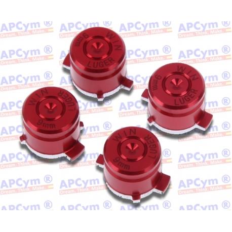 Botones Bala Aluminio rojo