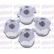 Botones Casquillo de Bala Aluminio Color Plata
