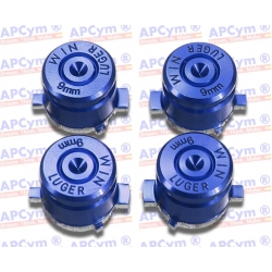 Botones Bala Aluminio azul